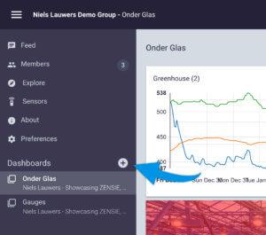 Een Nieuw Dashboard Creeren In Zensie 30mhz Slimme Sensoren Voor